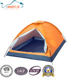 Polyester Fabric with Silver Coated Dome Camping Tent