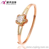 New Fashion Elegant Multicolor Zircon Bangle with Flowers