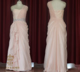 One Should Chiffon Evening Dres Delicate Draping Skirt Dress