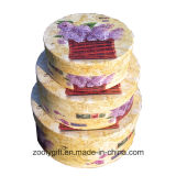 Beautiful Flower Pattern Round Paper Box Rigid Round Hat Gift Boxes with Lid