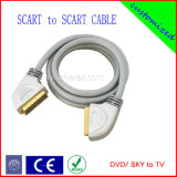 100% Tested Scart Cable with RoHS Certificate (SY023)
