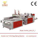 HDPE Shopping Carry Bag Making Machine with Auto Puncher