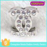 Dubai Bulk Mini Metal Custom Silver Crystal Cc Brooch Pins