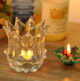 Scrolled Votive Glass Candle Holder Glassware