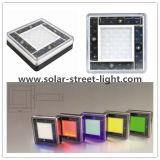 Colorful Aluminum Solar LED Underground Brick Light
