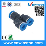 Plastic Compact One-Touch Pneumatic Tube Fitting with CE