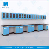 Medical Lab Wall Bench with Wall Mounted Cabinet