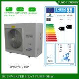 Evi Tech. -25c Winter Floor Heating100~300sq Meter Room 12kw/19kw/35kw Auto-Defrost High Cop Less Electric Heat Pump Split System