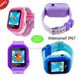 Waterproof IP67 GPS Tracker Watch for Kids with Sos (D27)