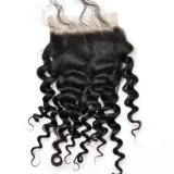 Virgin Human Hair Middle Part Kinky Curly Lace Closure Lbh 199