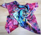 OEM Design Bright-Coloured Silk Scarf