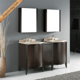 Fed-1034 60 Inch Elegant Marble Double Sinks Modern Bathroom Vanities