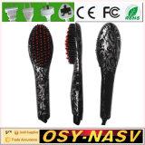 2016 Electric LCD Nasv Hair Straightener Brush with Ceramic Coating