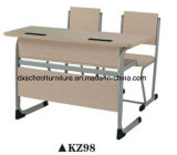 Double Seat Wooden Product School Desk and Chair Furniture Set