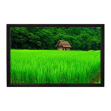 Fixed Frame Projection Screen with High-Definition Home Theater Curtain