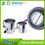 Household Kitchen Stainless Steel 8-Cup Flour Sifter
