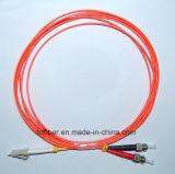 LC/PC-ST/PC mm Duplex Fiber Optic Patch Cord