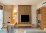 Hotel Furniture 5 Star Wooden Wall TV Panelling Latest Design