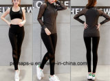 High Quality Yoga Clothes Three-Piece Mesh Breathable Fitness Suits