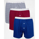 2016 Good Quality Customize Knitted Cotton Colorful Stripe Boxers