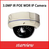 Vandal-Proof Dome Zoom Lens 3.0MP WDR Poe IP Camera