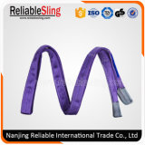 1t 30mm Eye to Eye Purple Flat Webbing Sling Made From Polyester