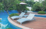 Adjustable Outdoor Rattan Day Bed Pool Side Wikcer Sun Lounger