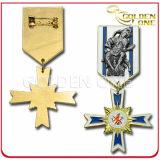 Custom Fine Polished Die Casting Metal Military Medal Badge