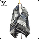 Fashion Jacquard Pattern Sleeveless Shawl