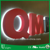 Customized 3D Advertising Metal Backlit Channel Letter Sign Color Optional
