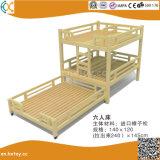 Kindergarten Children Wooden Double Beds Hx4301e