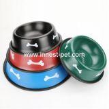 Bone Printhings Stainless Steel Pet Food Water Dog Bowls