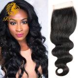 Brazilian Body Wave Lace Closure 4X4 Brazilian Lace Closure Bleached Knots Virgin Human Hair Closure