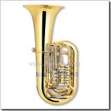 4 Valves Gold Lacquer Bb Key Rotary Tuba (TU9913)