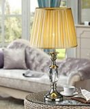 Phine 90184 Clear Crystal Table Lamp with Fabric Shade