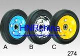 Black Rubber Steel Hub Wheel Heavy Duty Industrial Wheel