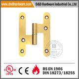 Brass H Hinge for Wooden Door with Round Corner
