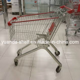 European Style Metal Supermarket Grocery Shopping Trolley Carts