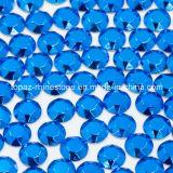 Nice Quality Blue Flatback Iron on Rhinestud for T Shirt