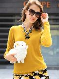 Women′s Round Neck Cashmere Sweater (13brdw031)