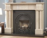Egypt Beige Marble Carved Fireplace