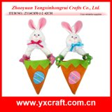 Easter Decoration (ZY14C870-1-2) Carrot Bunny Hanging Bag Easter Wreath