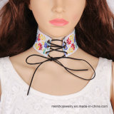 New Fashion Jewelry Cloth Embroidery Women Choker Necklace