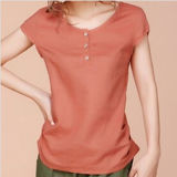 Fashion Sexy Cotton Printed T-Shirt for Women (W271)