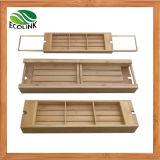 Adjustable Bamboo Bathtub Caddy / Shower Caddy / Bath Tub Caddy