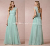 One Shoulder Prom Evening Gowns Pleated Tulle A-Line Bridesmaid Dresses Z5089