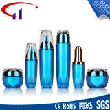 Blue Color Popular Glass Cosmetics Lotion Bottle (CHR8097)