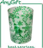 Christmas Glass Mug with Customized Logo