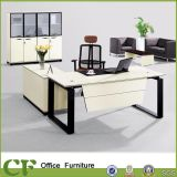Modern Computer Desk, Executive Office Table White & Wooden (CD-89912)