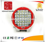 "Car LED Light Red/Black 9"" Round 96W CREE LED Work Light 4WD Offroad Light and LED Driving Auto Light"